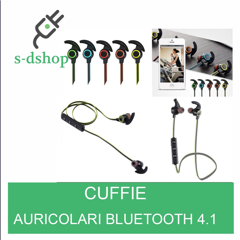 Cuffie sport stereo audio auricolari bluetooth 4 1 senza fili per smartphone ebay - Cuffie per sport ...