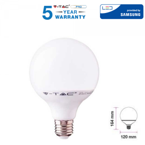 LAMPADINA LED E27 18W GLOBO BULB G120 V-TAC PRO VT-288 CHIP SAMSUNG LAMPADA