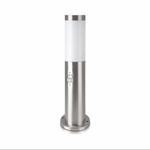 LAMPIONE LAMPIONCINO DA ESTERNO CON SENSORE PIR PALO ILLUMINAZIONE GIARDINO 45CM 220V-GRIGO