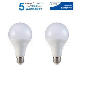 2 LAMPADINE LED V-Tac E27 9W a 20W Lampada Sfera Globo Bulbo Par freddo caldo naturale
