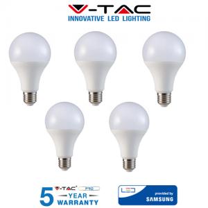 5 LAMPADINE LED V-Tac Bulbo E27 18W 125W Lampade Luce Calda Naturale Fredda SAMSUNG