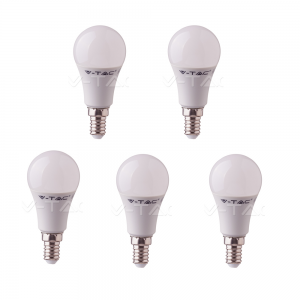 5 LAMPADINE LED V-TAC BULBO E14 DA 9W LAMPADE LUCE CALDA NATURALE FREDDA SAMSUNG VTAC-CALDA