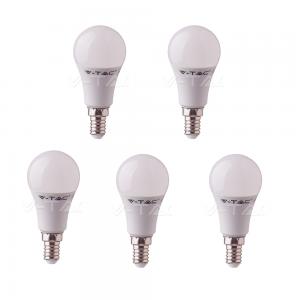 5 LAMPADINE LED V-TAC BULBO E14 DA 9W LAMPADE LUCE CALDA NATURALE FREDDA SAMSUNG VTAC-NATURALE