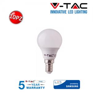 10 LAMPADINE LED V-Tac Bulbo MINIBULBO E14 da 7W Lampade Luce Calda Naturale Fredda