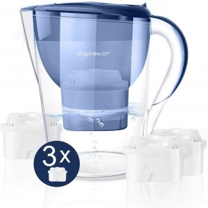 CARAFFA FILTRANTE Depuratrice d'acqua + 3 Filtri  3.5L Aigostar Pure 30LDV