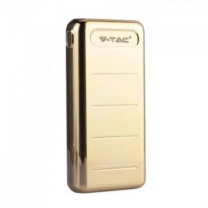 POWER BANK V TAC BATTERIA PORTATILE UNIVERSALE 20.000 mAh Dual USB+Type C GOLD