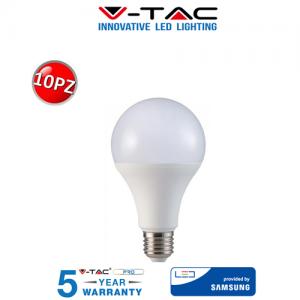 10 LAMPADINE LED V-Tac Bulbo E27 18W 125W Lampade Luce Calda Naturale Fredda SAMSUNG