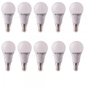 10 LAMPADINE LED V-Tac Bulbo E27 da 9W Lampade Luce Calda Naturale Fredda-CALDA