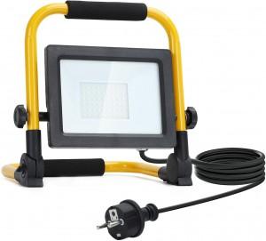 FARO A LED LUCE PER CANTIERE FARETTO LAMPADA LUCE DA LAVORO 10W 20W 30W 50W 100W SUPPORTO-30 Watt