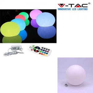 Sfera luminosa LED giardino da esterno da 40 cm con lampada inclusa MULTICOLOR RGB V-TAC VT-7807