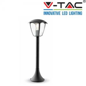 Lampione da giardino lanterna in Plastica  e27 luce da esterno alluminio 60x17 cm v tac 7059 vt 736