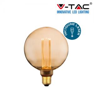 LAMPADA LED FILAMENTO VINTAGE V-TAC 4W  E27 LUCE CALDA LAMPADINA AMBRA VT-2195