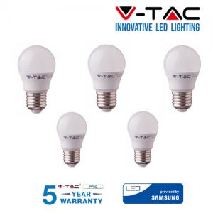 5 LAMPADINE LED V-Tac Bulbo MINIBULBO E27 da 7W Lampade Luce Calda Naturale Fredda