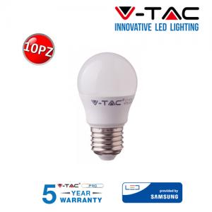10 LAMPADINE LED V-Tac Bulbo MINIBULBO E27 da 7W Lampade Luce Calda Naturale Fredda