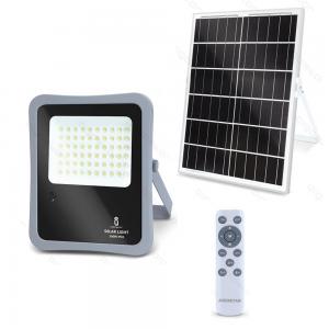 FARO ENERGIA SOLARE LED CON PANNELLO FARETTO CREPUSCOLARE + TELECOMANDO AIGOSTAR-50w