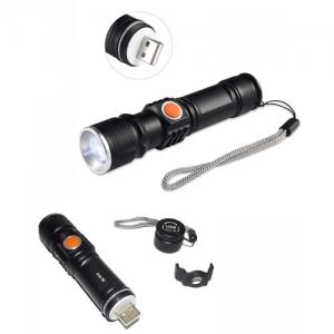TORCIA BL 515 TATTICA /MILITARE LED RICARICABILI USB CREE T6 TORCIA LED